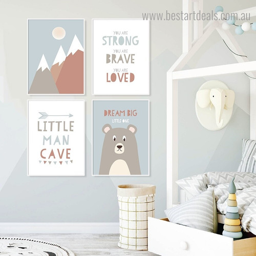 Little One Kids Quote Framed Artwork Picture Canvas Print for Room Wall Getup