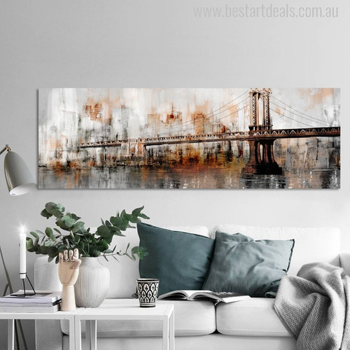 George Washington Bridge Painting Canvas Print