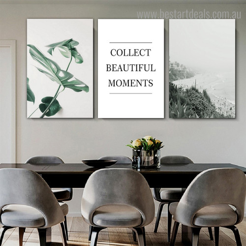Beautiful Moments Landscape Nordic Framed Painting Picture Canvas Print for Room Wall Tracery