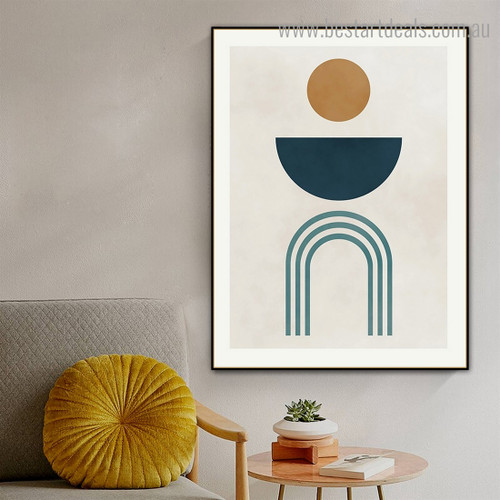 Curved Figures Abstract Modern Framed Effigy Portrait Canvas Print for Room Wall Adornment