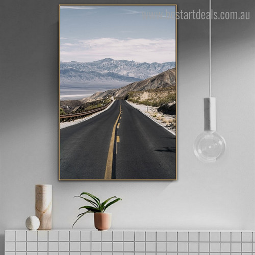 Driveway Landscape Modern Framed Painting Image Canvas Print for Room Wall Finery