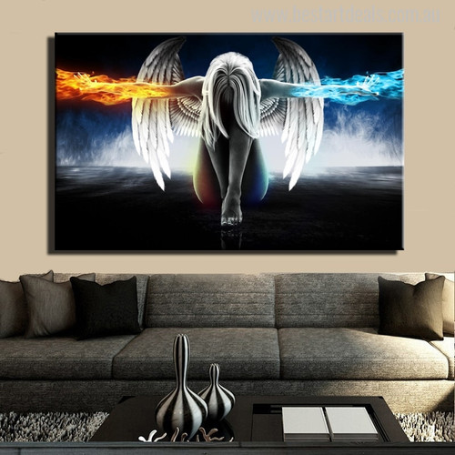 Anime Angel Painting Canvas Print