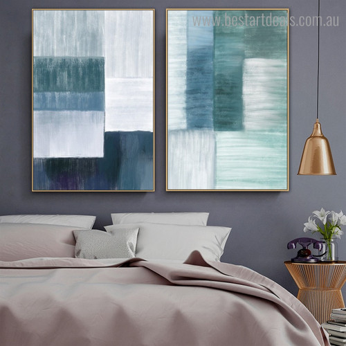 Block Brush Abstract Modern Framed Artwork Photo Canvas Print for Room Wall Adornment