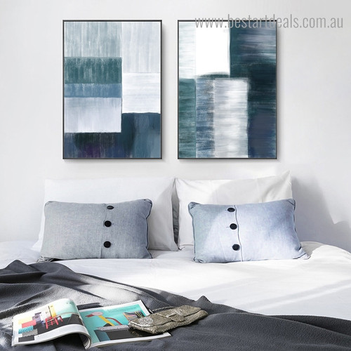 Chequered Blocks Abstract Modern Framed Artwork Photograph Canvas Print for Room Wall Adornment
