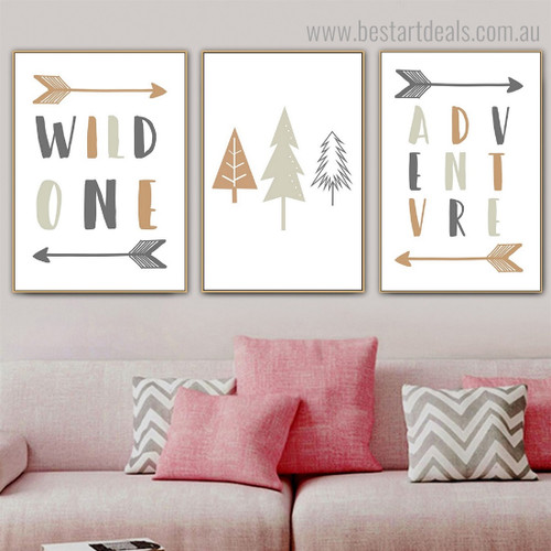 Adventure Kids Quote Modern Framed Painting Image Canvas Print for Room Wall Disposition