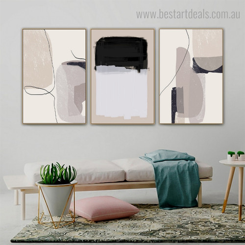 Colorific Specks Abstract Modern Framed Painting Photo Canvas Print for Room Wall Adornment