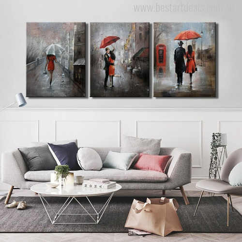 Lovely Rain Painting Print