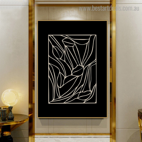 Little Detroit Abstract Framed Painting Photo Canvas Print for Room Wall Adornment