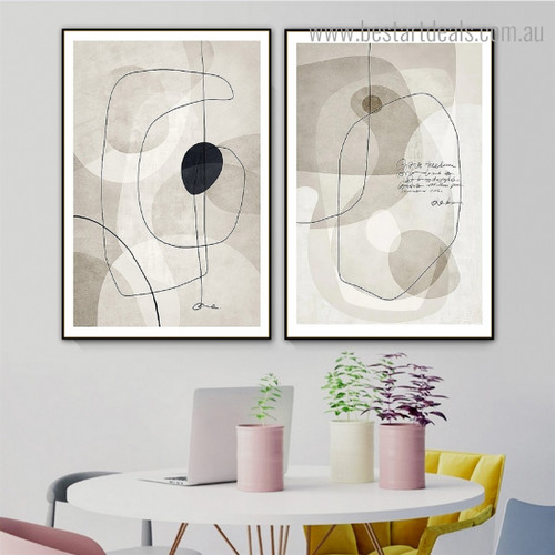 Smear and Streaks Abstract Framed Artwork Picture Canvas Print for Room Wall Decoration