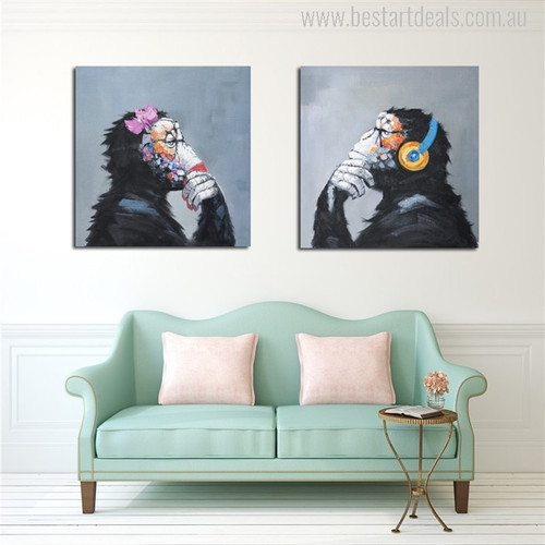 Thinking Monkey Painting Print