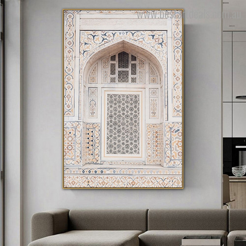 Itmad Ud Daulah Religious Framed Artwork Portrait Canvas Print for Room Wall Outfit