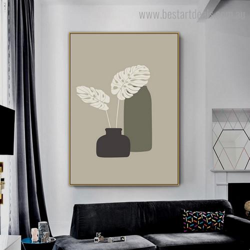 Monstera Plant Abstract Botanical Modern Framed Artwork Photo Canvas Print for Room Wall Drape
