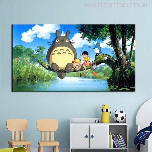 My Neighbor Totoro Painting Canvas Print for Wall Decor