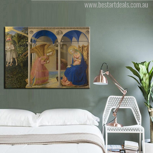 European Renaissance Period Painting by Italian Painter Fra Angelico Canvas Print