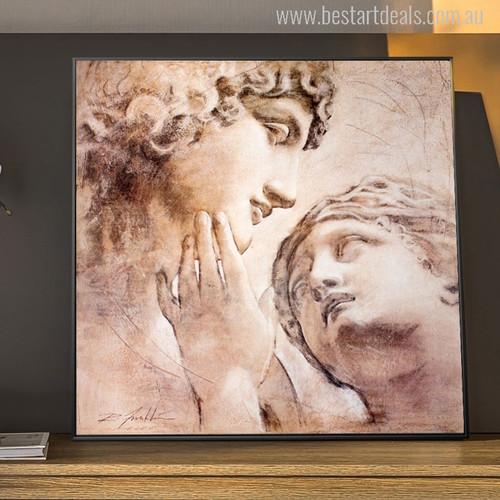 David and Venus Sculpture Painting Print