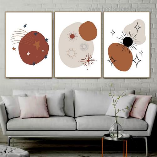Chromatic Meteors Abstract Modern Framed Artwork Photograph Canvas Print for Room Wall Flourish