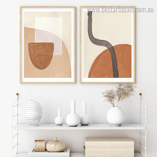 Spheric and Square Abstract Modern Framed Painting Photo Canvas Print for Room Wall Decor