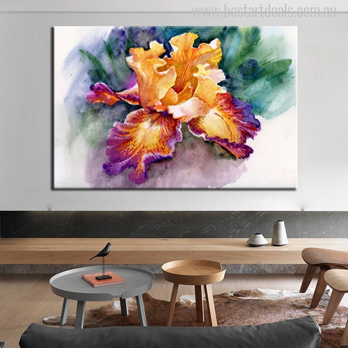 Irises Flower Painting Canvas Print for Room Wall Decor