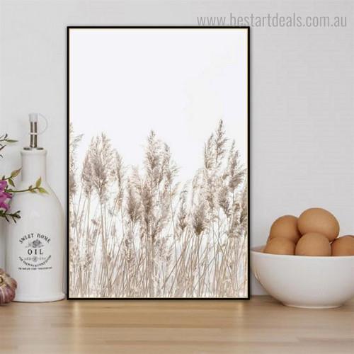 Phragmites Botanical Framed Artwork Pic Canvas Print for Room Wall Decor