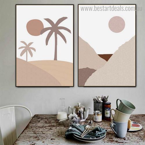Desert Arbors Nature Framed Artwork Photograph Canvas Print for Room Wall Assortment
