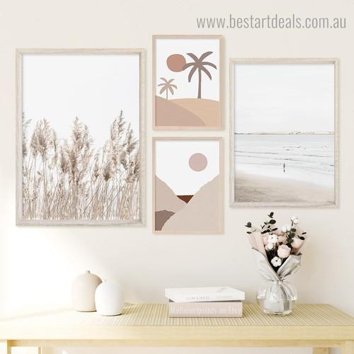 Beach and Desert Abstract Framed Artwork Photograph Canvas Print for Room Wall Assortment