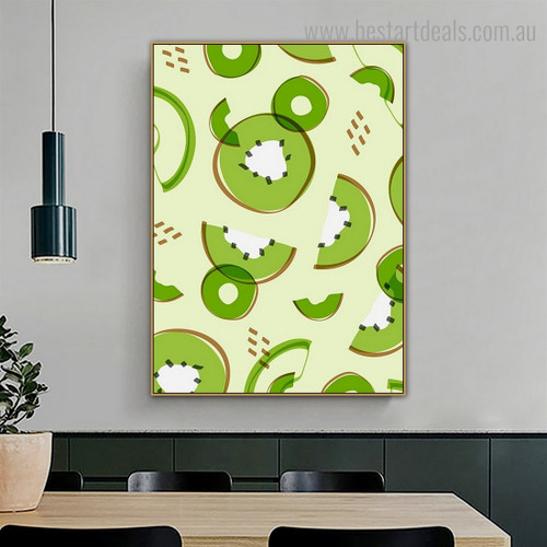 Kiwi Fruit Food Framed Painting Photograph Canvas Print for Room Wall Finery