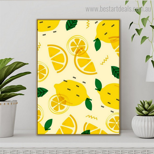 Lemon Food Framed Artwork Photograph Canvas Print for Room Wall Decoration