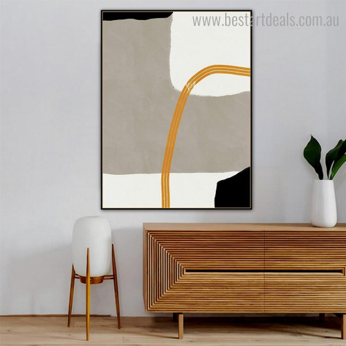 Twisty Lines Modern Framed Painting Image Canvas Print for Room Wall Decoration