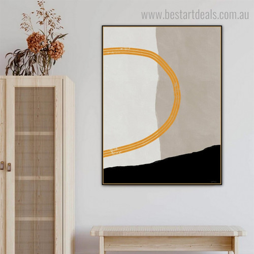 Twirly Trails Modern Framed Painting Image Canvas Print for Room Wall Decoration