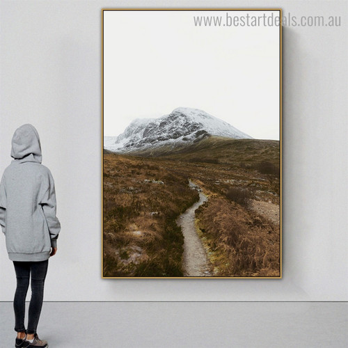 Summit Nature Modern Framed Painting Picture Canvas Print for Room Wall Disposition