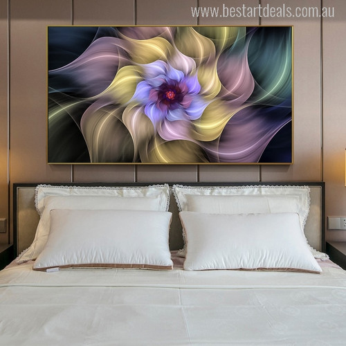 Crystal Surreal Flower Painting Print