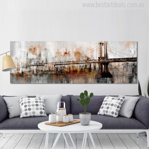 George Washington Bridge Abstract Modern Painting Print