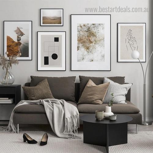 Island Nature Contemporary Framed Artwork Photo Canvas Print for Room Wall Flourish