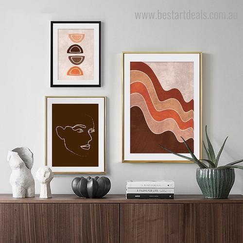 Cascade Fierce Abstract Minimalist Framed Artwork Photograph Canvas Print for Room Wall Onlay