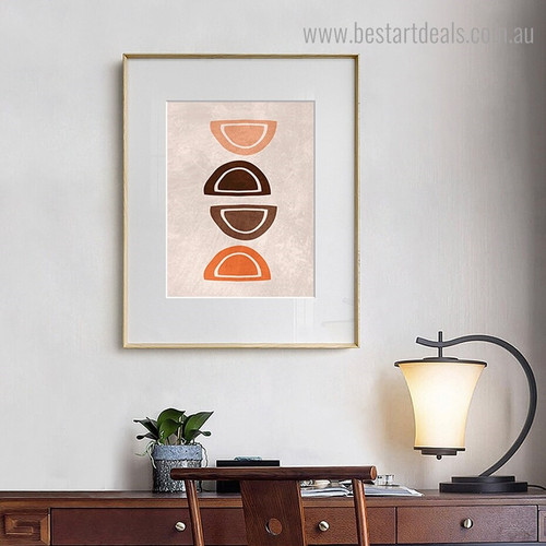Hemisphere Abstract Minimalist Framed Artwork Pic Canvas Print for Room Wall Decoration