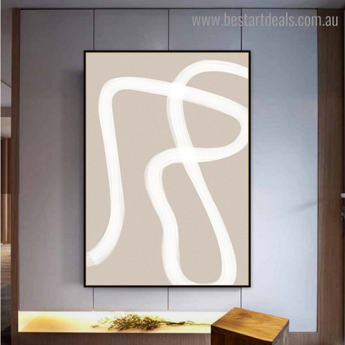 Devious Stripe Abstract Contemporary Framed Artwork Image Canvas Print for Room Wall Disposition