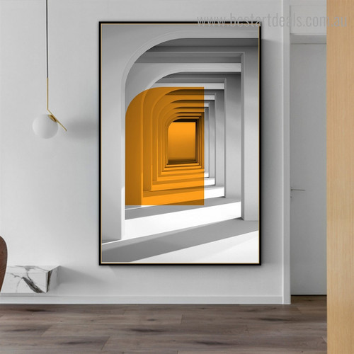 Cave Abstract Contemporary Framed Painting Picture Canvas Print for Room Wall Garniture