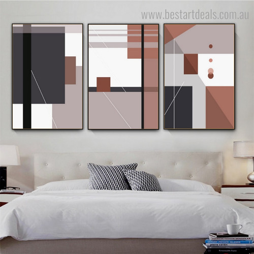Rectangle Square Abstract Contemporary Framed Painting Photograph Canvas Print for Room Wall Ornament