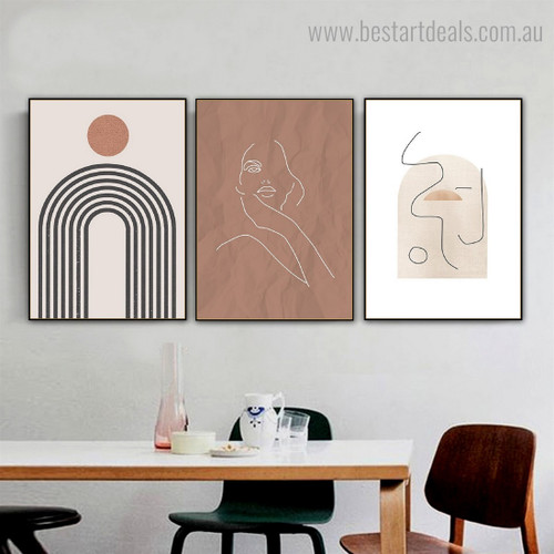 Winding Streaks Abstract Contemporary Framed Artwork Pic Canvas Print for Room Wall Decor