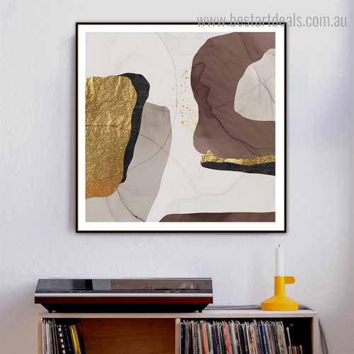 Speckles Abstract Contemporary Framed Painting Photograph Canvas Print for Room Wall Ornament