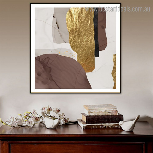 Rambling Traits Abstract Contemporary Framed Artwork Image Canvas Print for Room Wall Outfit