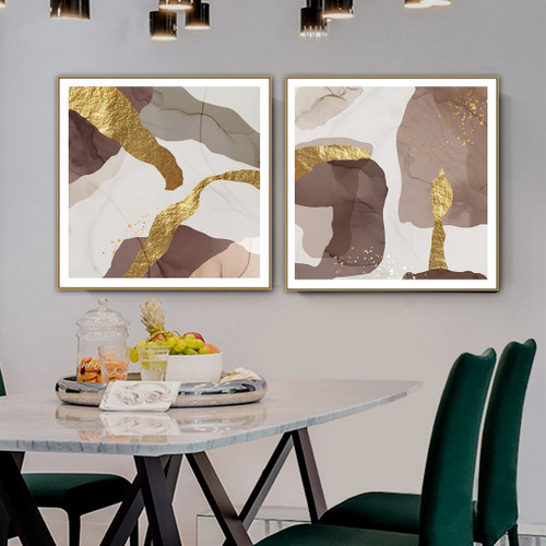 Traits Spots Abstract Contemporary Framed Artwork Portrait Canvas Print for Room Wall Decoration
