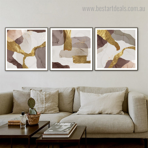 Roundabout Lines Abstract Contemporary Framed Artwork Picture Canvas Print for Room Wall Disposition