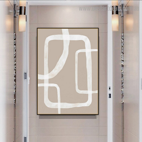 Curvy Rectangle Abstract Contemporary Framed Painting Photograph Canvas Print for Room Wall Assortment