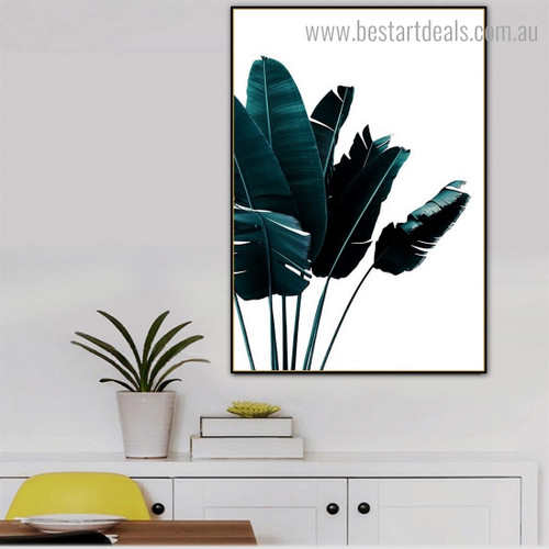 Banana Leafage Botanical Contemporary Framed Artwork Pic Canvas Print for Room Wall Garniture