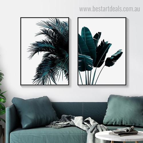 Banana Palm Botanical Contemporary Framed Artwork Portrait Canvas Print for Room Wall Garniture