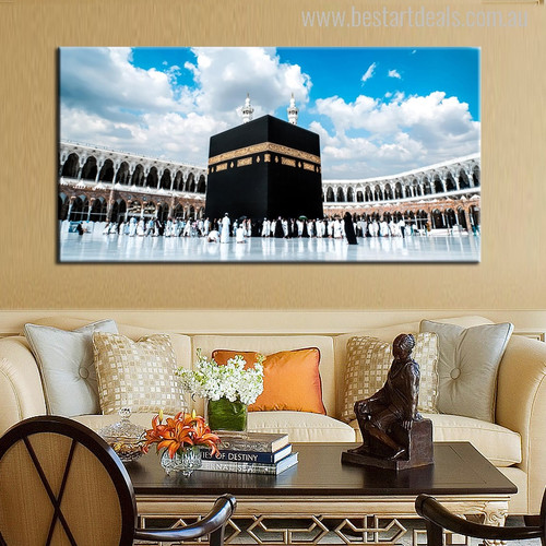 Mosque of Kaaba Islamic Painting Canvas Print for Wall Decor