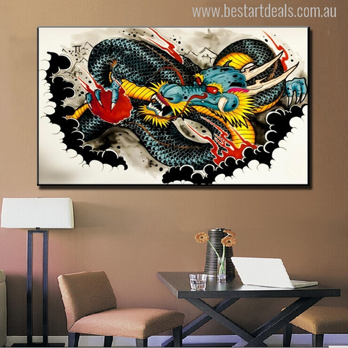 Dragon Graffiti Painting Print for Home Wall Decoration