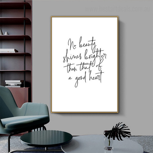 Beauty Quote Contemporary Framed Painting Pic Canvas Print for Room Wall Onlay
