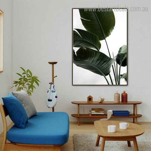 Strelitzia Botanical Contemporary Framed Painting Pic Canvas Print for Room Wall Disposition